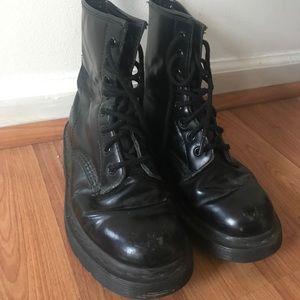 Black dr marten lace up boots